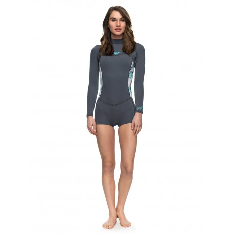 Roxy Syncro 4/3 GBS Back Zip Wetsuit Ash Pistaccio